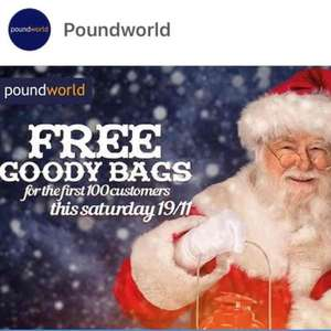Free Goody Bags for first 100 Customers at Poundworld this Saturday 19th