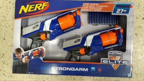 Nerf N-strike Elite Strongarm Blaster (Twin pack) ONLY £13.00 @ Tesco Direct
