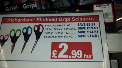 scissors £2.99 instore @ Boyes
