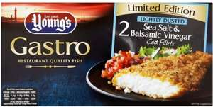 Young's Gastro Limited Edition Lightly Dusted Sea Salt & Balsamic Vinegar Cod Fillets (2 per pack - 230g) was £4.00 now £2.00 @ Iceland