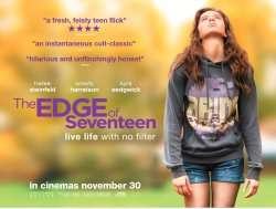 Brand New Code - Free Cinema Tickets -  Edge of Seventeen  -  22/11/16 18:30 @ SFF