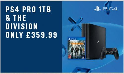 ARGOS PS4 PRO 1TB -THE DIVISION £359.99 - £15 ARGOS VOUCHER