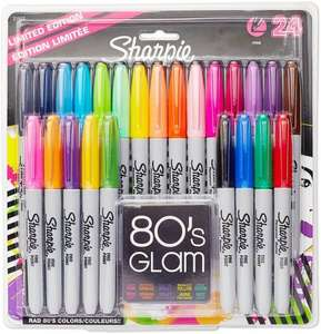 Sharpie Permanent Markers, Fine Point, Limited Edition 80s Glam Colours - Pack of 24 for £6.99 (Prime) / £10.98 (non Prime) @ Amazon