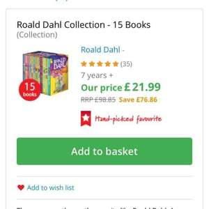 Roald Dahl Collection - 15 Books £16.49 deliverd (with code) The bookpeople
