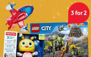 3 for 2 on ALL toys - Starts 18th @ Tesco Direct