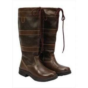 Saxon Country Long Leather Boots £47.99 viovet