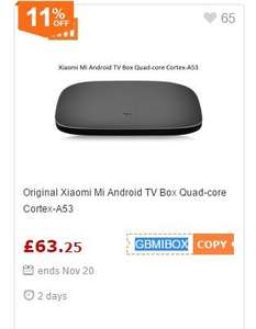 Xiaomi Mi TV Android TV Box (not standard Android) £63.25 Gearbest
