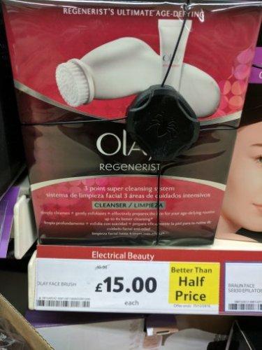 Olay regenerist face brush down from £40 - £15 @Tesco (Online & Instore)