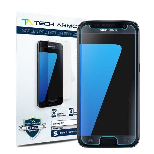 Galaxy S7 Screen Protector, Tech Armor Premium TPU High Definition (HD) Clear Samsung Galaxy S7 Screen Protector [2-Pack] £5.45 Prime / £9.44 Non Prime @ Amazon