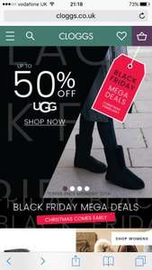 Upto 50%.off selected UGGS at cloggs.co.uk