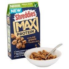 Shreddies max protein at half price in tesco £1.24