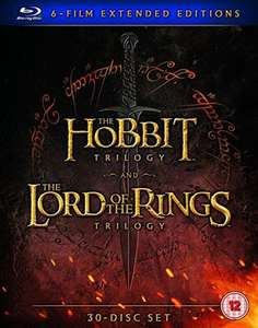Middle Earth - Six Film (HOBBITS + LOTR) 30 Disc Collection Extended Edition Blu-Ray £54.99 @ Amazon