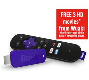 Roku Streaming Stick 3500 £19.99 @ Argos - plus stack with 3 free HD movies offer up to a max of £30