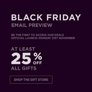 BHS Black Friday Preview At least 25% Off All Gifts