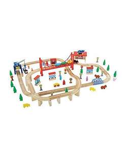 Black Friday preview toys up to 60% off - 100 piece wooden train set was £65 now £26 save £39 more in post @ Mothercare