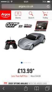 Toystate Aston Martin Spectre Radio Controlled Car at Argos £13.99