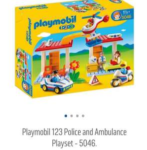 playmobil 123 police and ambulance at Argos for £13.99