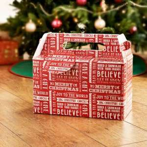 Gift Boxes (Christmas Eve Boxes) Two Pack (£1 each and big enough to put PJs, books & DVD's in ) at B&M in store