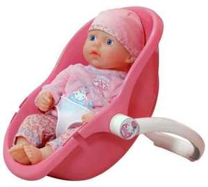 baby annabell comfort seat and doll £8.99 @ argos plus 90p Quidco cashback