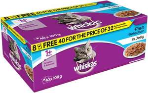Whiskas fish selection 40 pack at Farmfoods for £6.99
