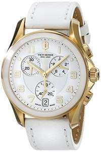 Victorinox Women's 40mm White Calfskin Band Gold Tone Steel Case Swiss Quartz Chronograph Watch 241511 £169 Sold by WristClocks and Fulfilled by Amazon.