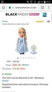 Frozen Northern Lights Elsa Doll £20.18 on Amazon