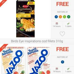 new Freebies on Checkoutsmart. Birdseye inspirations fish and Yazoo smoothies