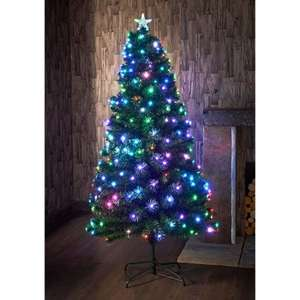 Pre lit led multi coloured  6ft Christmas tree @ B&M