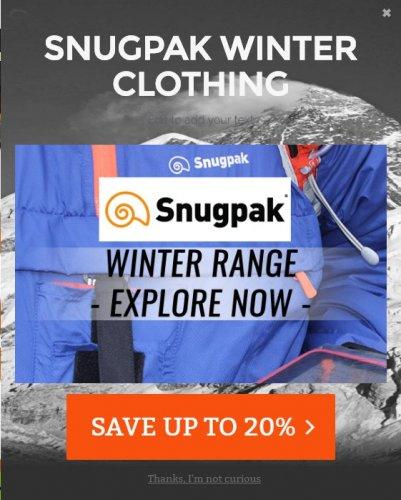 Snugpak Clothing @ 20% Off