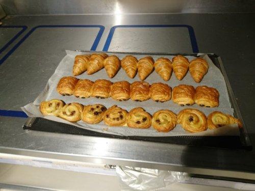 Mini croissant, pain au chocolat, pain au raisin 3 for 40p or 15p each at lidl