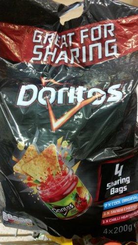 Doritos 4 x Sharing bags 200g - £1 instore @ Tesco