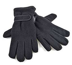 Ladies Warm Fleece Winter Gloves Thermal Thinsulate Lined & Wrist Strap, Black £2 Delivered @ Camelion Sales, Amazon