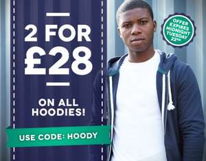 2 for £28 on all Hoodies @ Charles Wilson (+ £4.95 P&P)