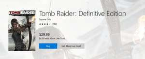 Tomb Raider: Definitive Edition £4.80 xbox one gold