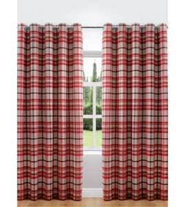 woven check lined curtains from £19.99 plus £10 for 2 cushion covers. @ Ace