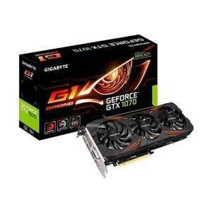 Gigabyte GeForce GTX 1070 G1 Gaming - Amazon.fr warehouse Used - Very good £312