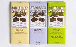 Menier Swiss chocolate - Dark, milk and white bars £1 at Asda (down from £1.35)
