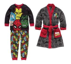 Marvel/Batman Robe and Pyjamas sets @ Argos, reduced from 24.99 now