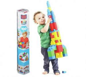 Mega Bloks First Builders Tube 100 Pieces 1/2 PRICE £9.49 WAS £19.99 ARGOS (FREE C+C)