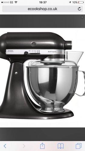 KitchenAid Artisan Mixer 4.8L Black Storm KSM150PSBZ £299@ ecookshop