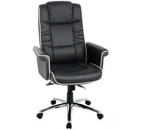 High Back Gas Lift Chelsea Executive Leather Chair - Black - £99.99 @ Argos (Free C&C)