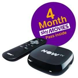 NOW TV Box with Sky Movies 4 Month Pass - NOW TV Box with Sky Entertainment 6 Month Pass  -  £19 @ Tesco Direct