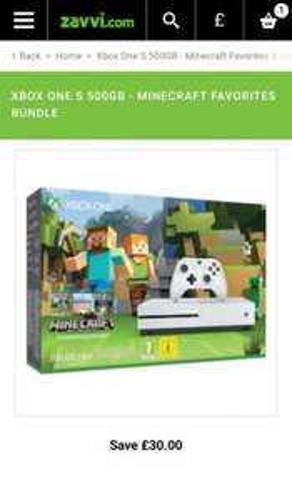 Xbox One S 500GB - Minecraft Favorites Bundle Games Consoles |£219.99 @ Zavvi.com