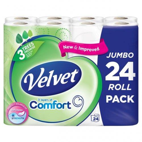 Velvet Comfort Toilet Tissue Jumbo 24 pack  £6.00  Morrisons