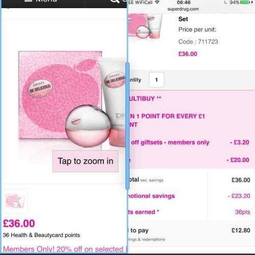 DKNY Fresh Blossom Eau de Parfum 30ml Gift Set £12.80 with member card @ Superdrug | Back in stock 22/11 +10% cashback QUIDCO