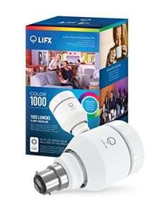 LIFX Colour 1000 Wi -Fi Smart LED Light Bulb,Works with Alexa, Multi-Colour, Dimmable, No Hub Required, Bayonet B22, LED - £36.99 @ Amazon
