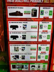 Deals on xbox one consoles at GAME instore from £199.99