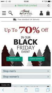 Weird Fish Black Friday Sale Started - Up to 70% off + FREE delivery