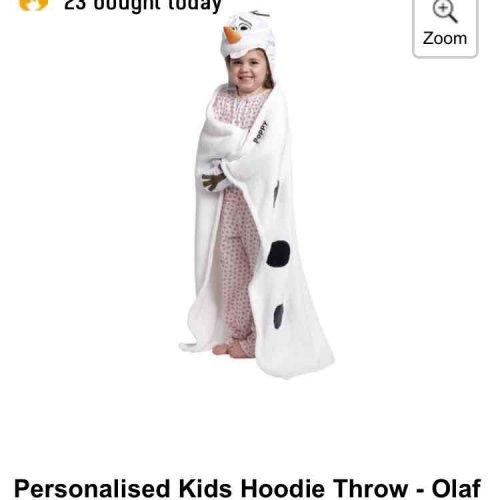 personalised hoodie towel for £4.49 plus £4.99 delivery at Studio - £9.48