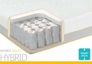 Dormeo Options Hybrid Mattress - from £99 - £199 at Costco